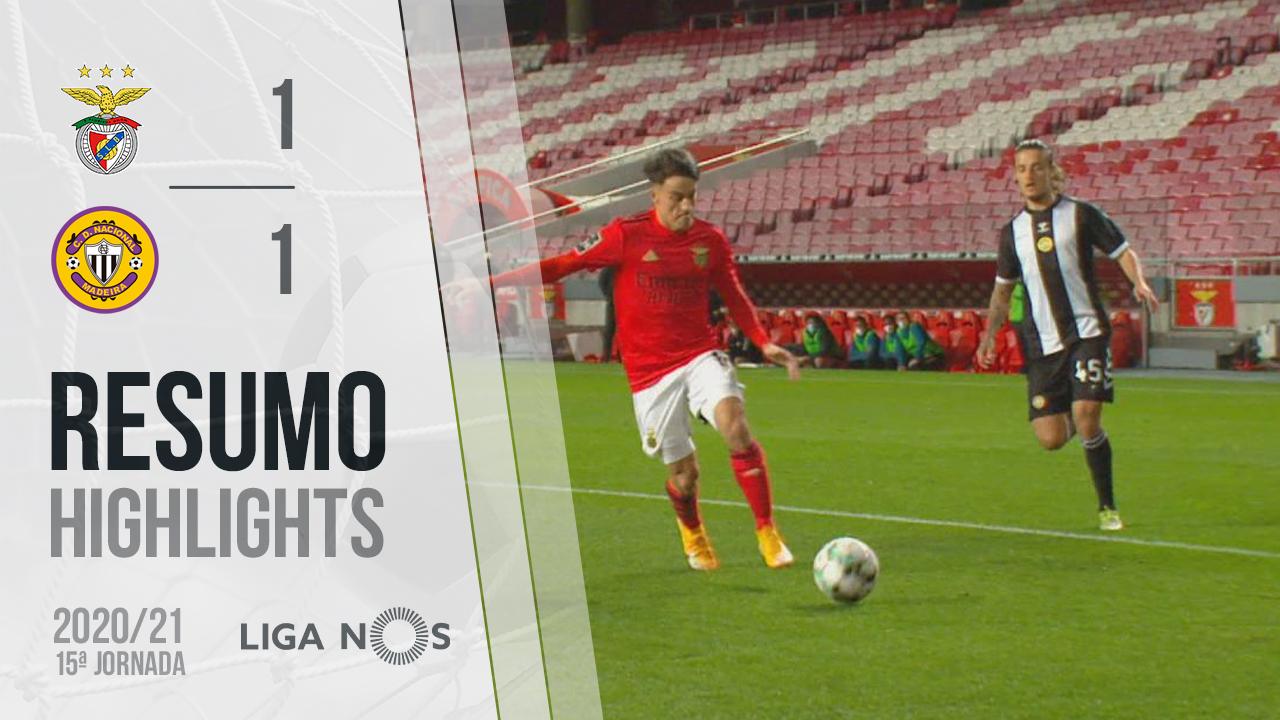 I Liga (15ªJ): Resumo SL Benfica 1-1 CD Nacional