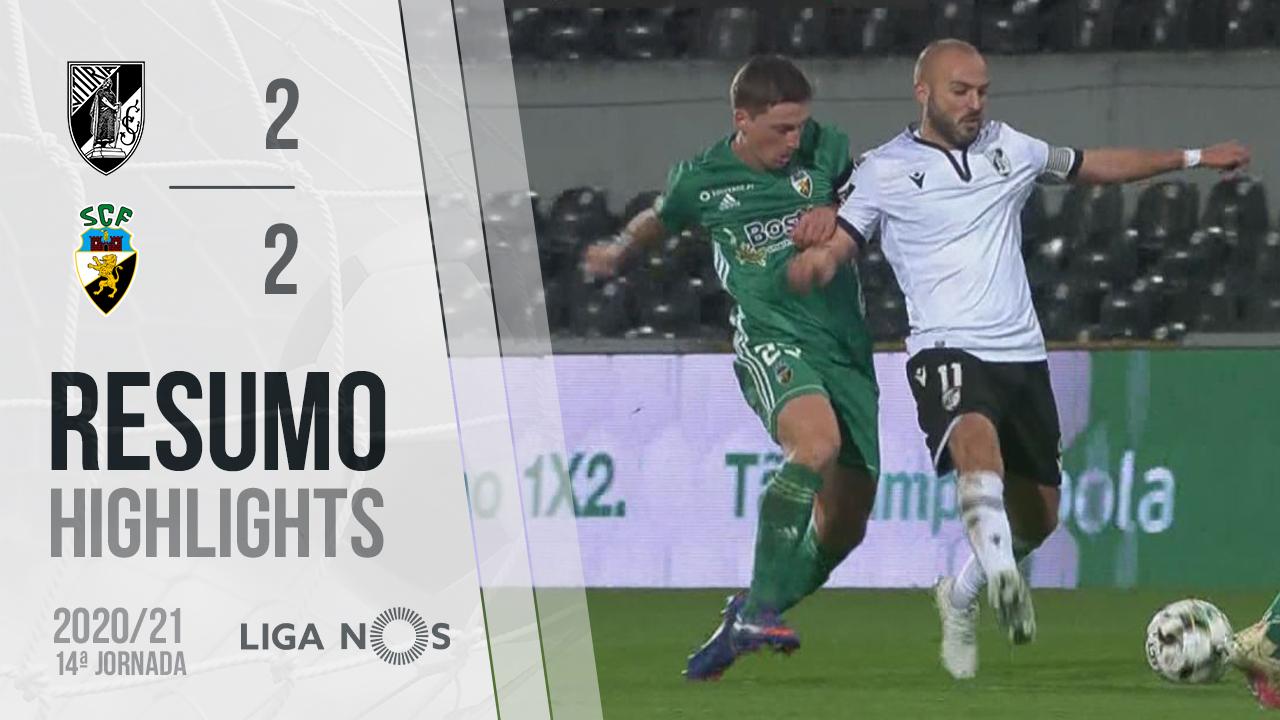 Liga NOS (14ªJ): Resumo Vitória SC 2-2 SC Farense