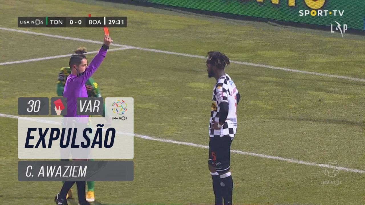 Boavista FC, Expulsão, C. Awaziem aos 30'