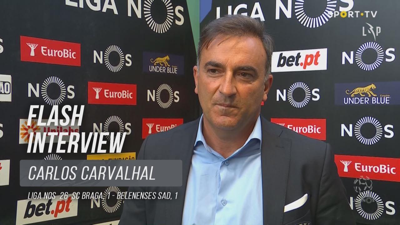 """Carlos Carvalhal: """"O futebol vale pela eficácia"""""""