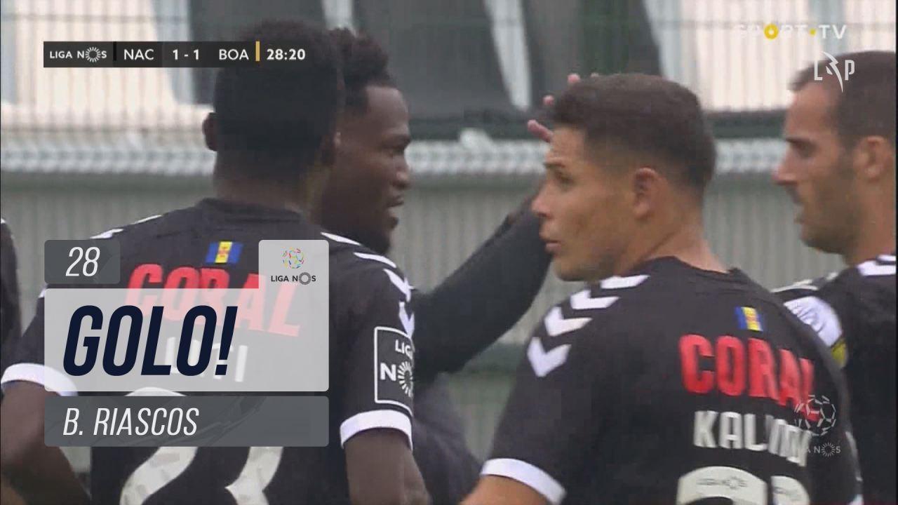 GOLO! CD Nacional, B. Riascos aos 28', CD Nacional 1-1 Boavista FC