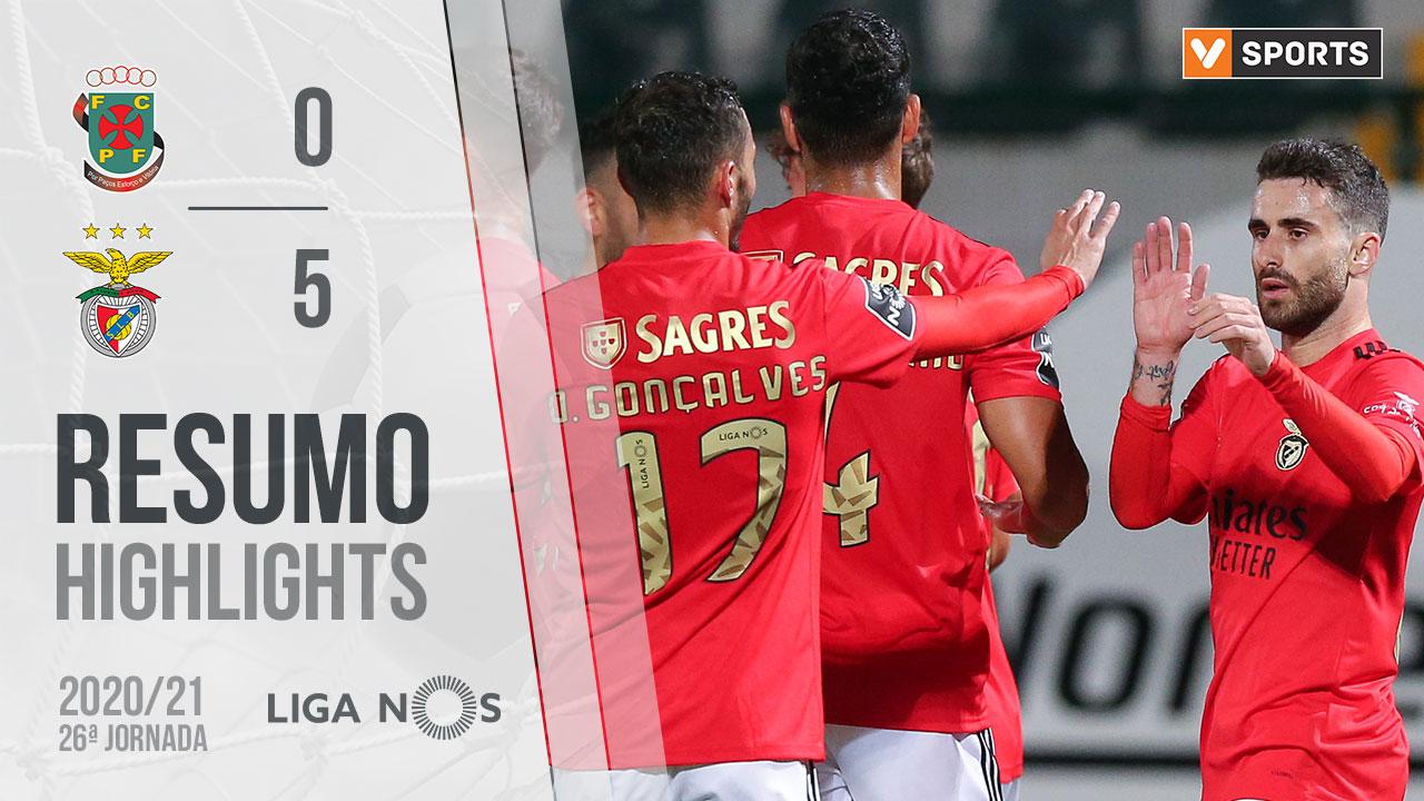 Liga NOS (26ªJ): Resumo FC P.Ferreira 0-5 SL Benfica