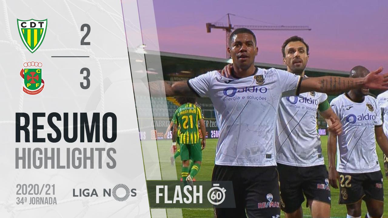 I Liga (34ªJ): Resumo Flash CD Tondela 2-3 FC P.Ferreira