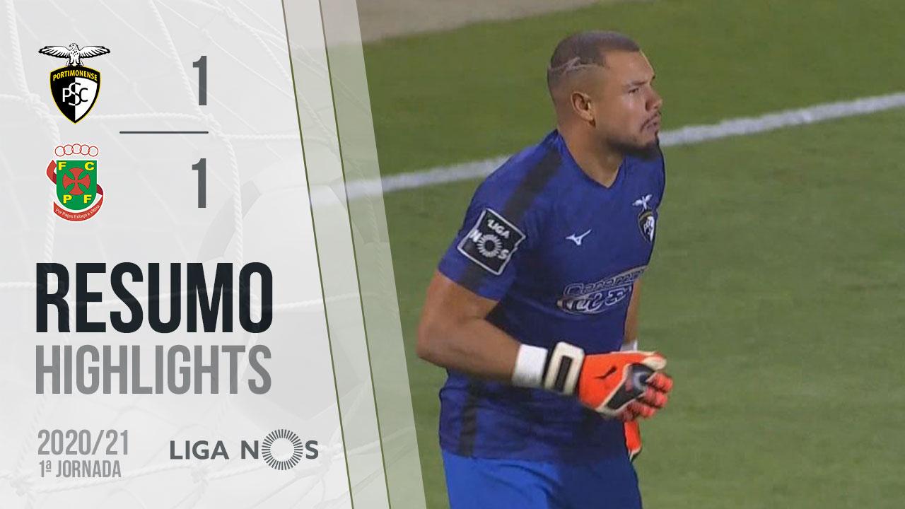 I Liga (1ªJ): Resumo Portimonense 1-1 FC P.Ferreira