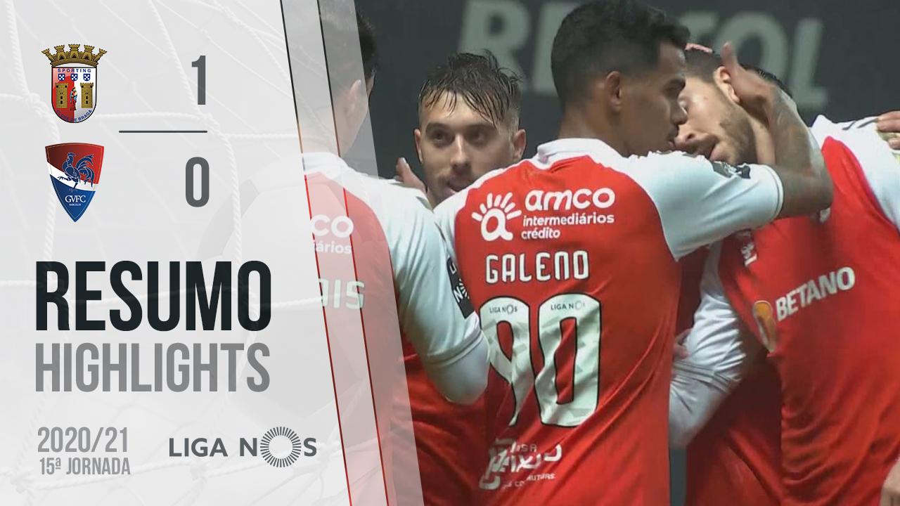 I Liga (15ªJ): Resumo SC Braga 1-0 Gil Vicente FC