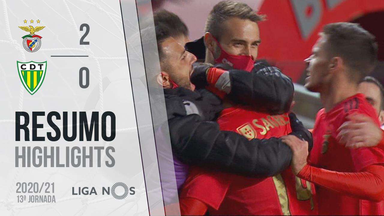 Liga NOS (13ªJ): Resumo SL Benfica 2-0 CD Tondela