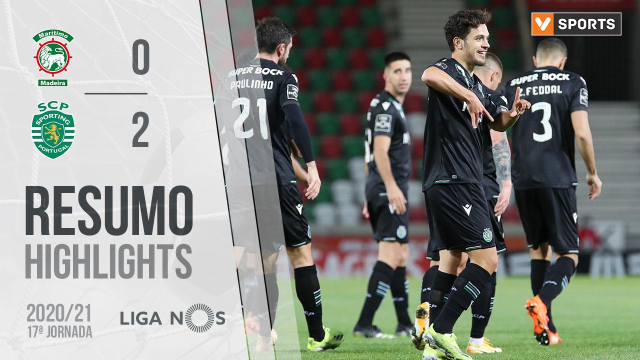Liga NOS (17ªJ): Resumo Marítimo M. 0-2 Sporting CP