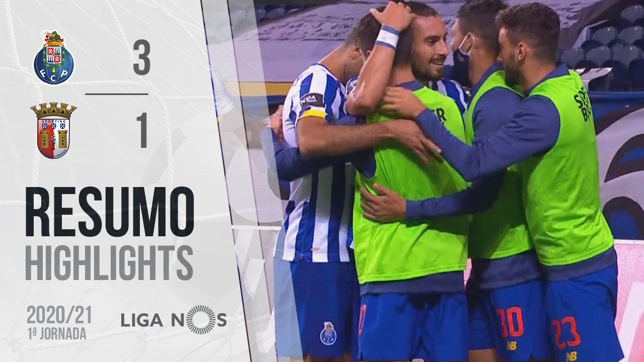 Liga NOS (1ªJ): Resumo FC Porto 3-1 SC Braga