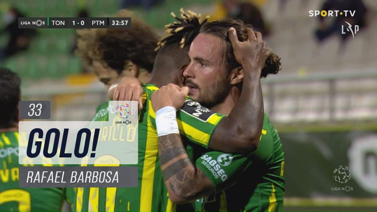 GOLO! CD Tondela, Rafael Barbosa aos 33', CD Tonde...