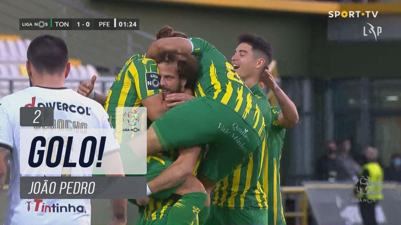 GOLO! CD Tondela, João Pedro aos 2', CD Tondela 1-0 FC P.Ferreira