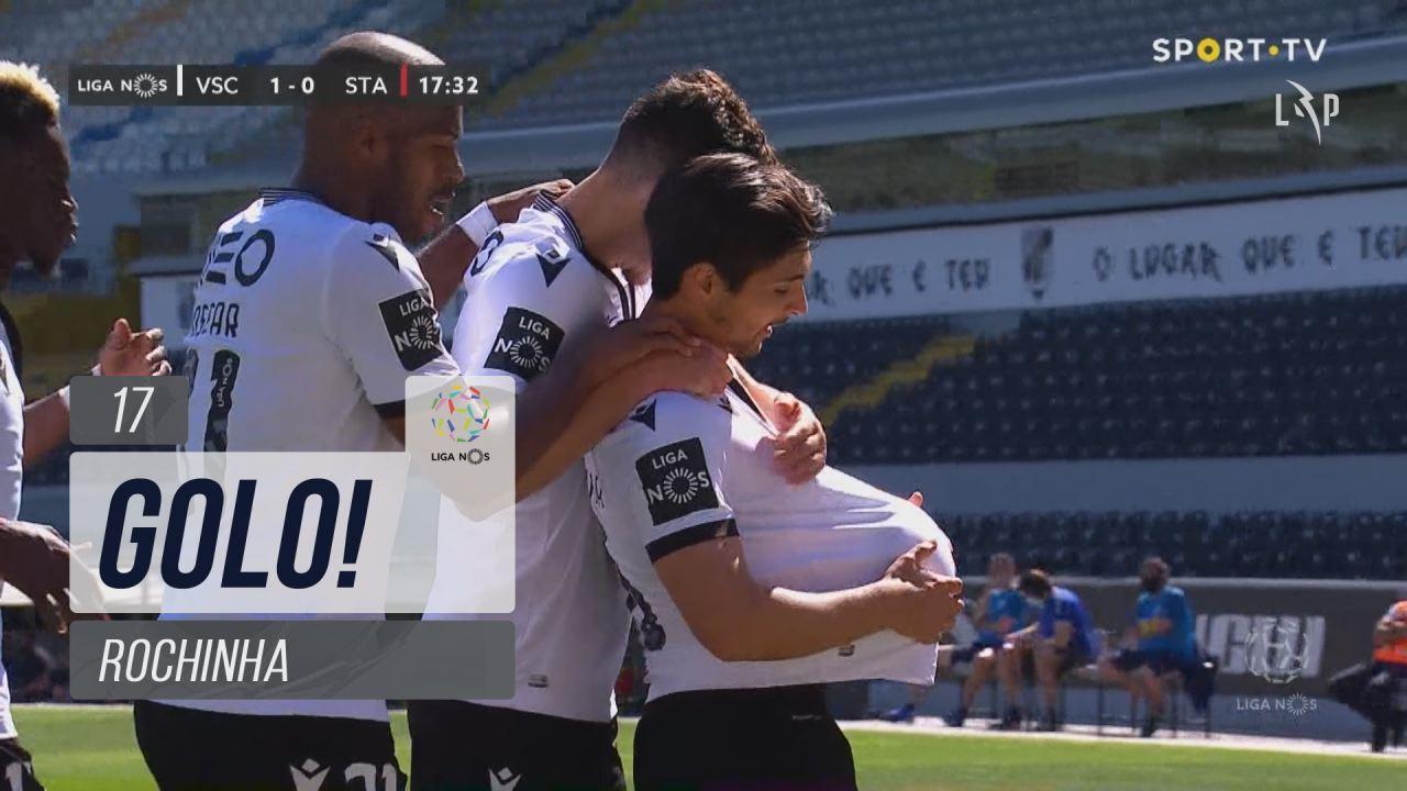 GOLO! Vitória SC, Rochinha aos 17', Vitória SC 1-0 Santa Clara