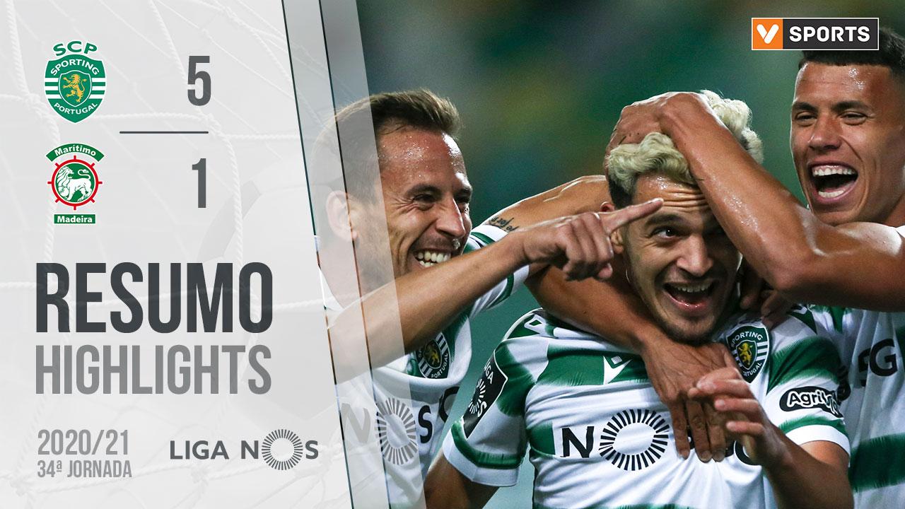Liga NOS (34ªJ): Resumo Sporting CP 5-1 Marítimo M.