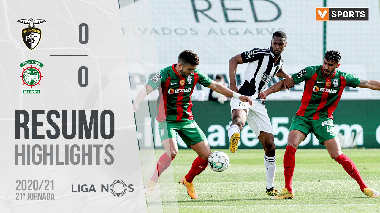 Liga NOS (21ªJ): Resumo Portimonense 0-0 Marítimo M.