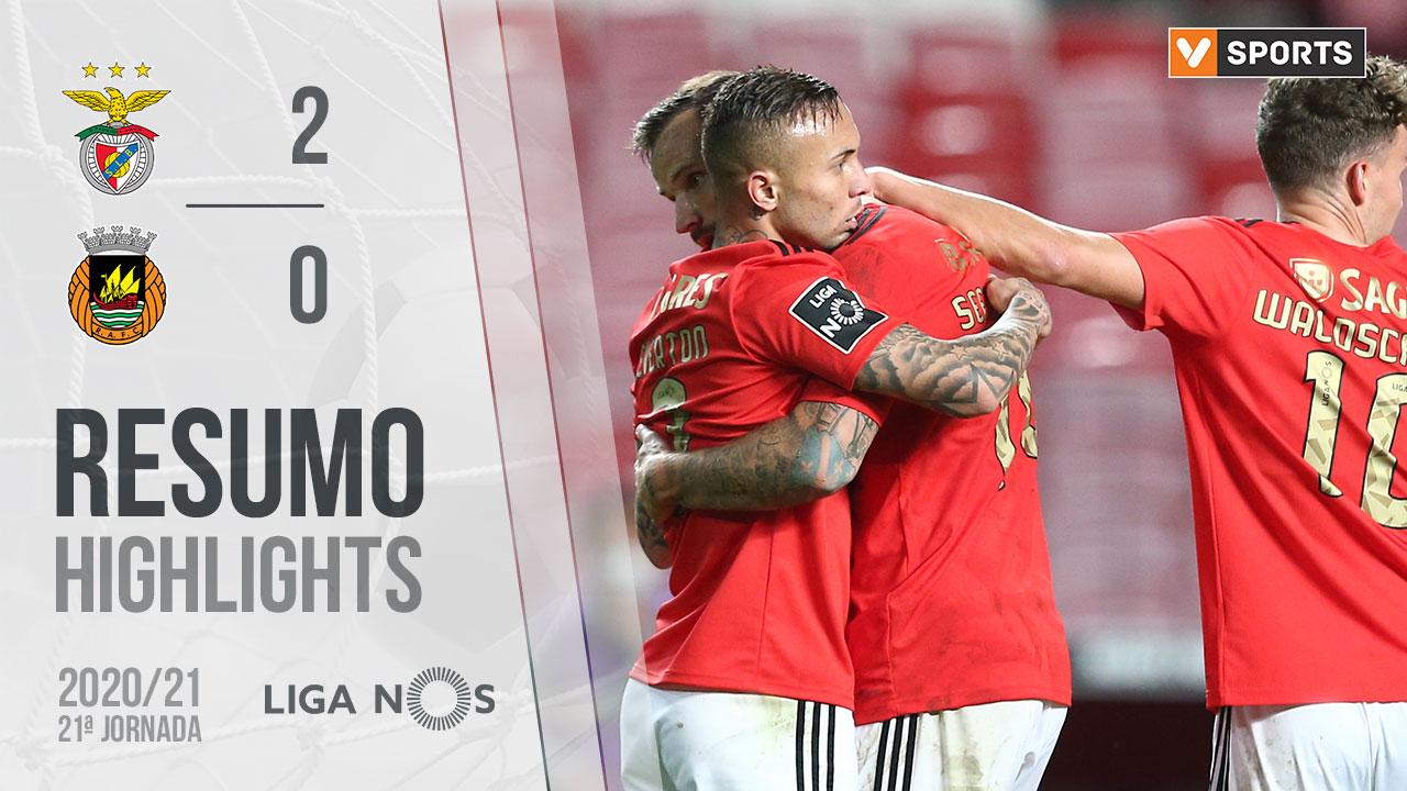 Liga NOS (21ªJ): Resumo SL Benfica 2-0 Rio Ave FC