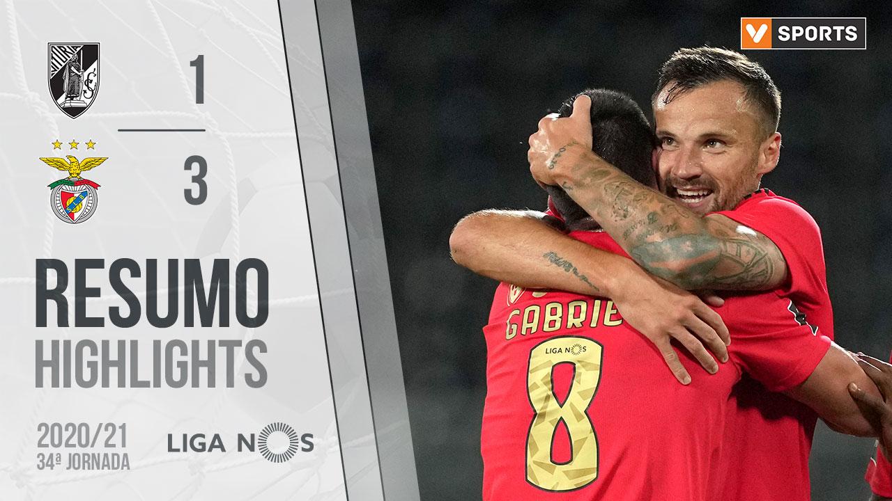 Liga NOS (34ªJ): Resumo Vitória SC 1-3 SL Benfica