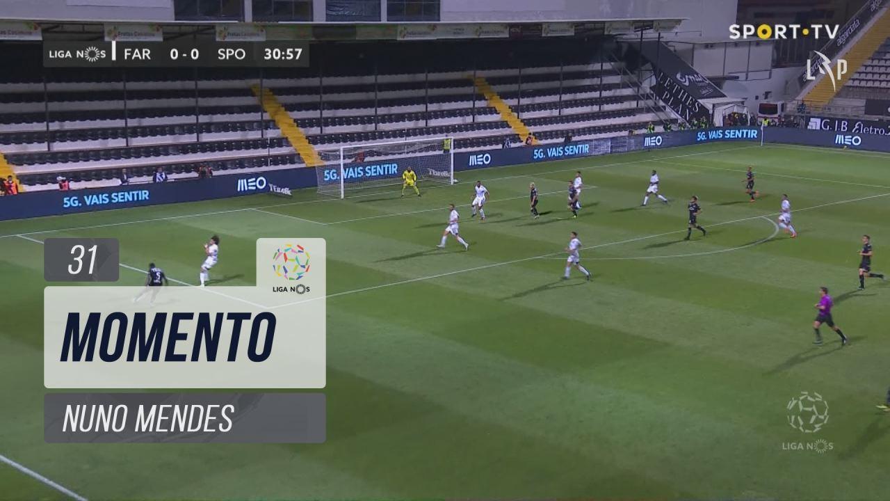Sporting CP, Jogada, Nuno Mendes aos 31'