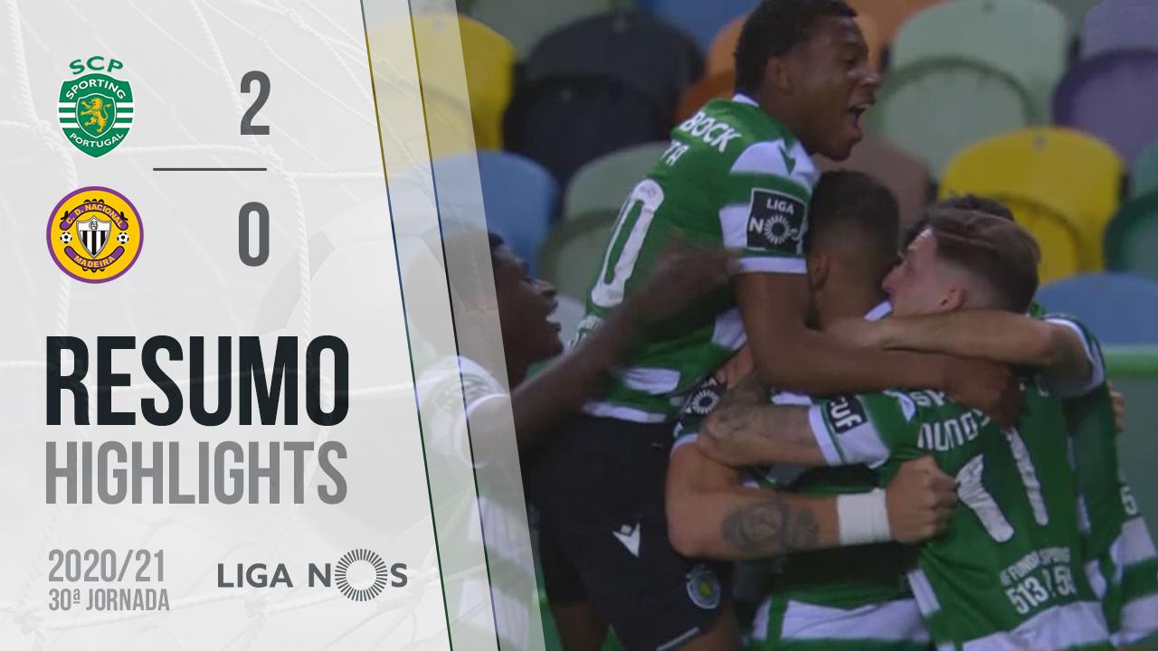 Liga NOS (30ªJ): Resumo Sporting CP 2-0 CD Nacional