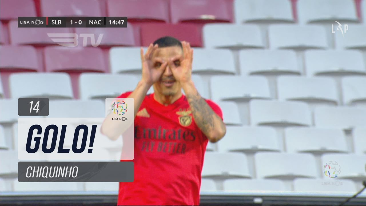 GOLO! SL Benfica, Chiquinho aos 14', SL Benfica 1-...