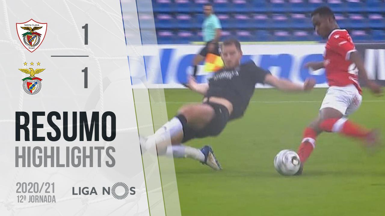 Liga NOS (12ªJ): Resumo Santa Clara 1-1 SL Benfica