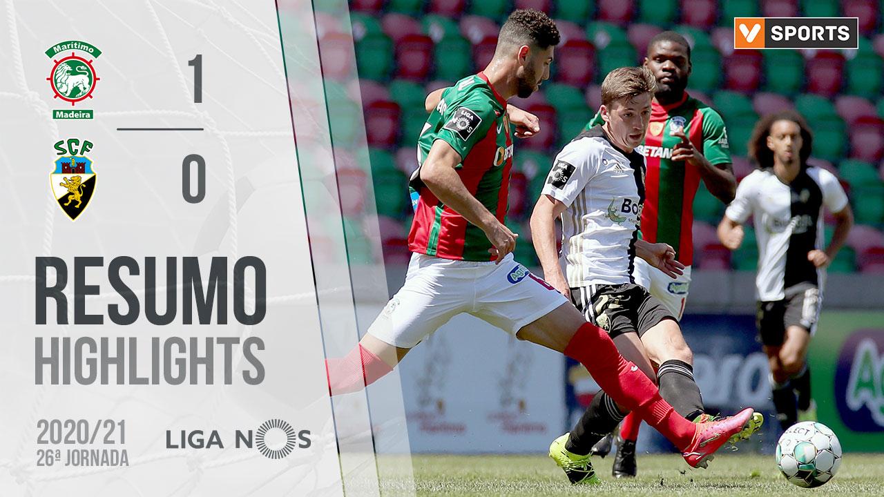 Liga NOS (26ªJ): Resumo Marítimo M. 1-0 SC Farense