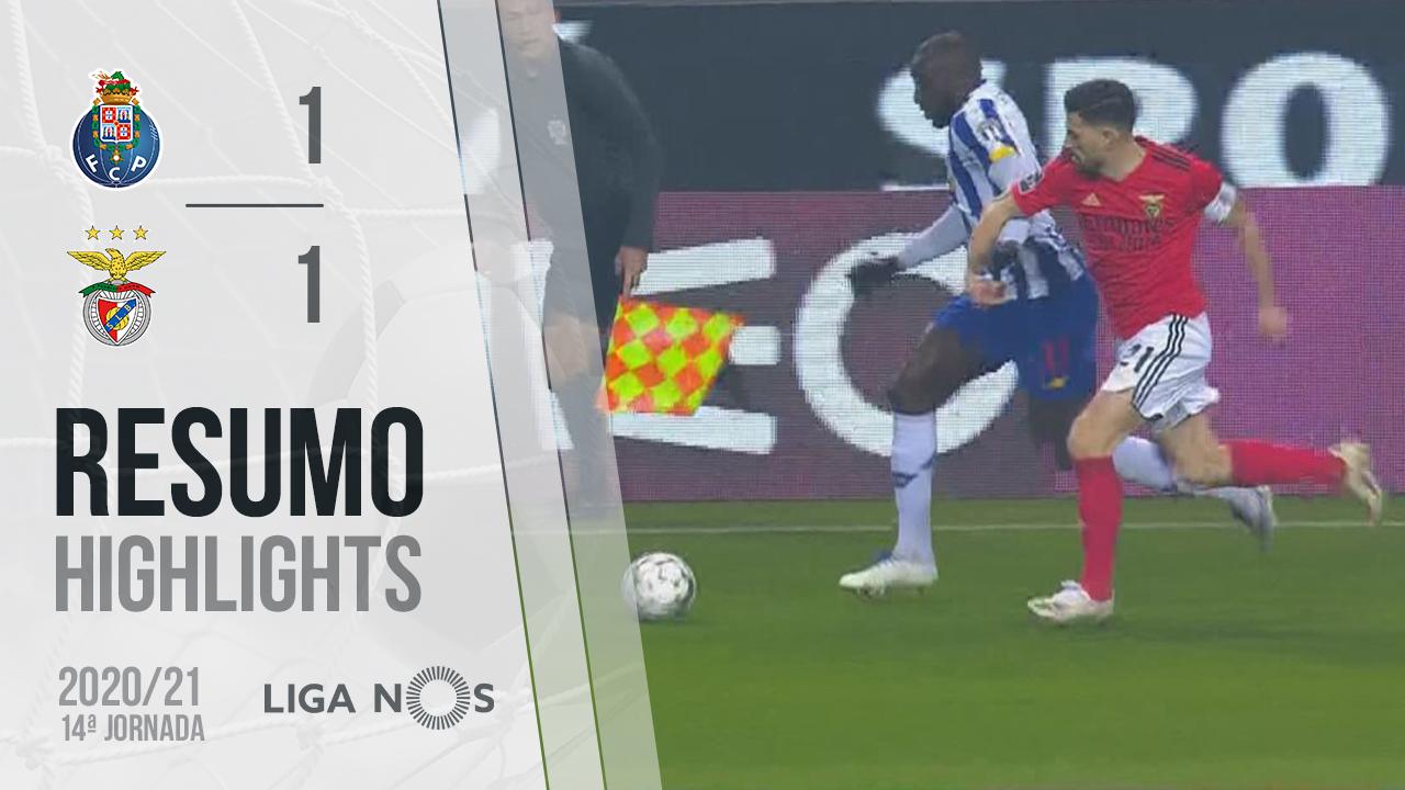 Liga NOS (14ªJ): Resumo FC Porto 1-1 SL Benfica