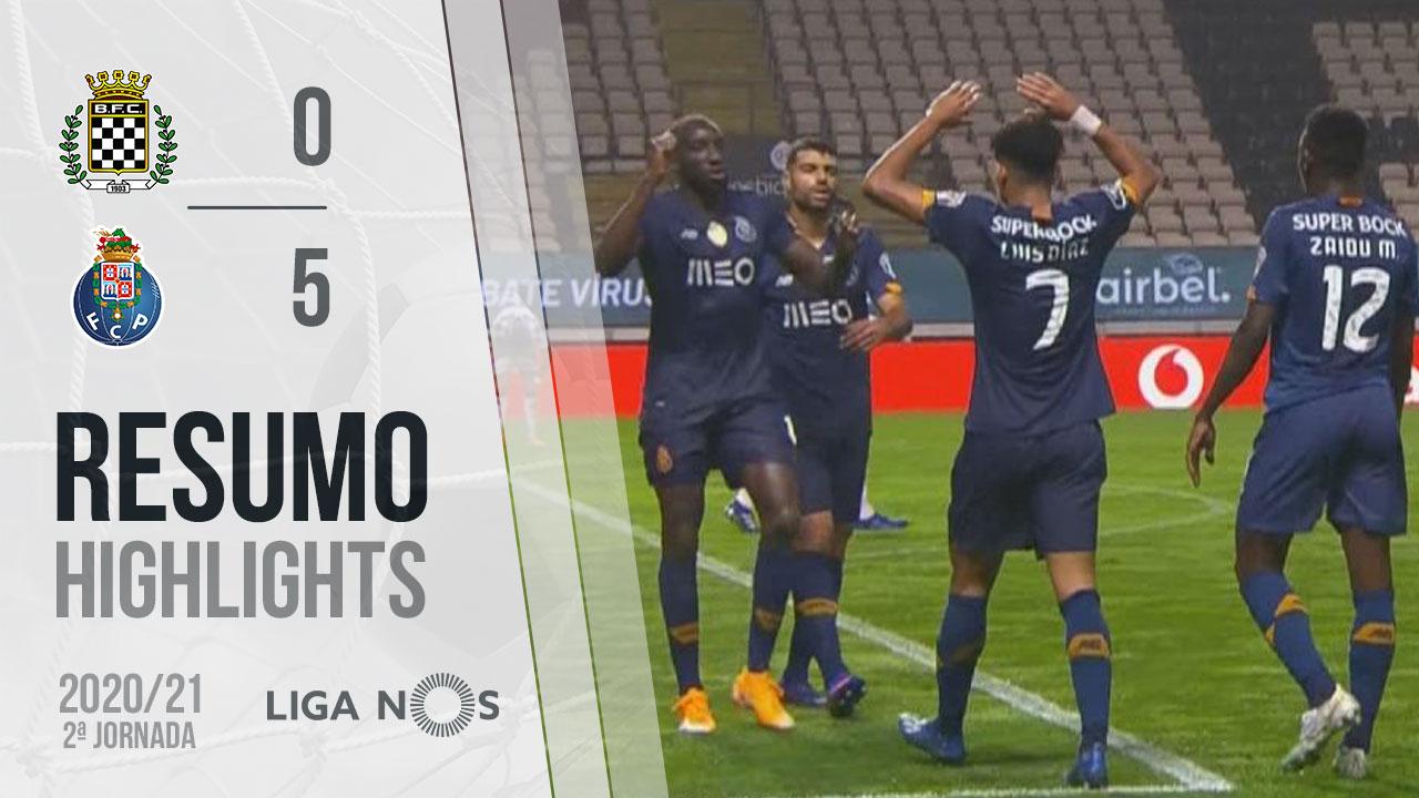 Liga NOS (2ªJ): Resumo Boavista FC 0-5 FC Porto