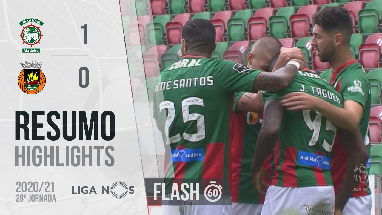 I Liga (28ªJ): Resumo Flash Marítimo M. 1-0 Rio Ave FC