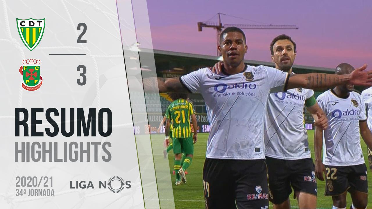 I Liga (34ªJ): Resumo CD Tondela 2-3 FC P.Ferreira