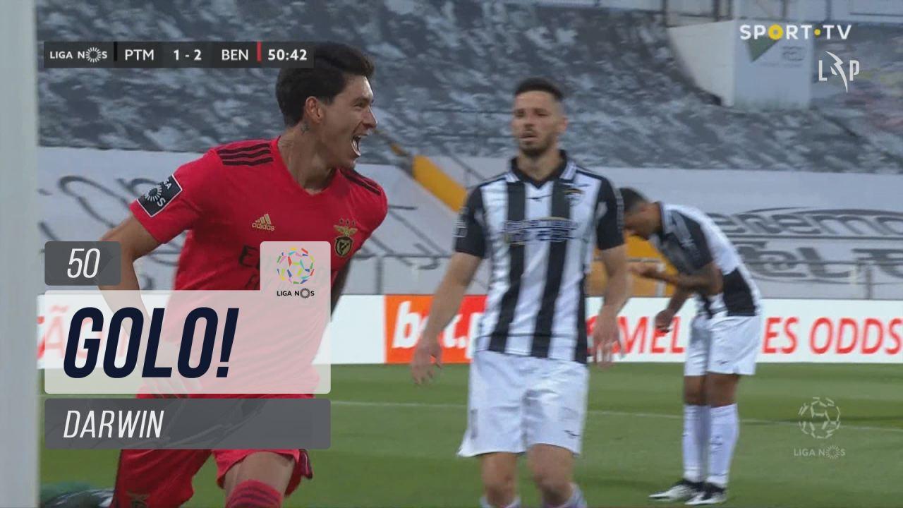 GOLO! SL Benfica, Darwin aos 50', Portimonense 1-2...