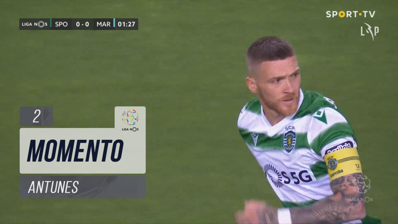 Sporting CP, Jogada, Antunes aos 2'