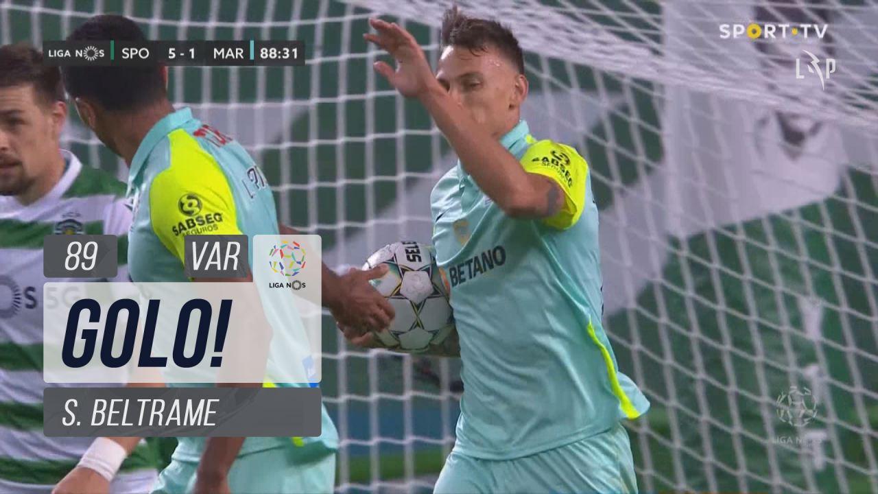 GOLO! Marítimo M., S. Beltrame aos 89', Sporting CP 5-1 Marítimo M.