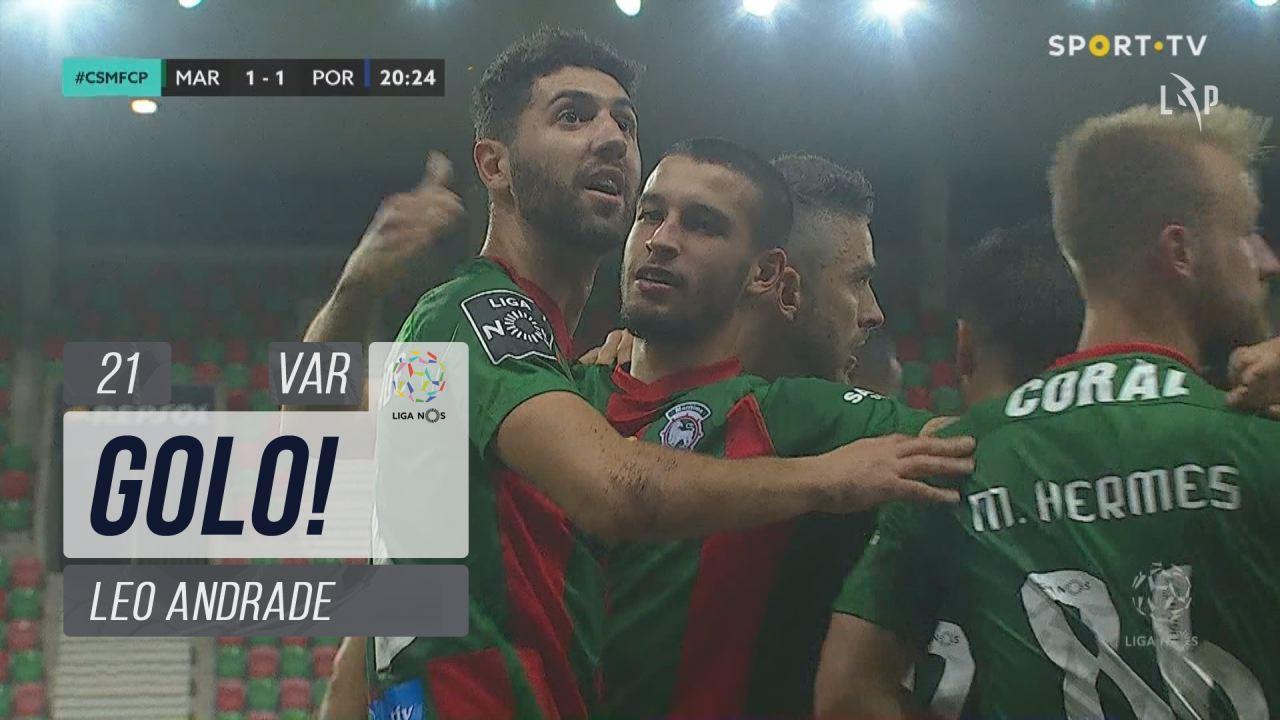 GOLO! Marítimo M., Leo Andrade aos 18', Marítimo M. 1-1 FC Porto