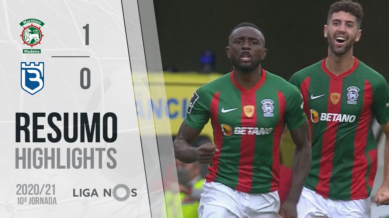 Liga NOS (10ªJ): Resumo Marítimo M. 1-0 Belenenses SAD