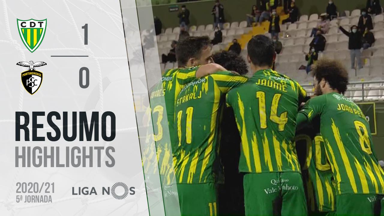 Liga NOS (5ªJ): Resumo CD Tondela 1-0 Portimonense