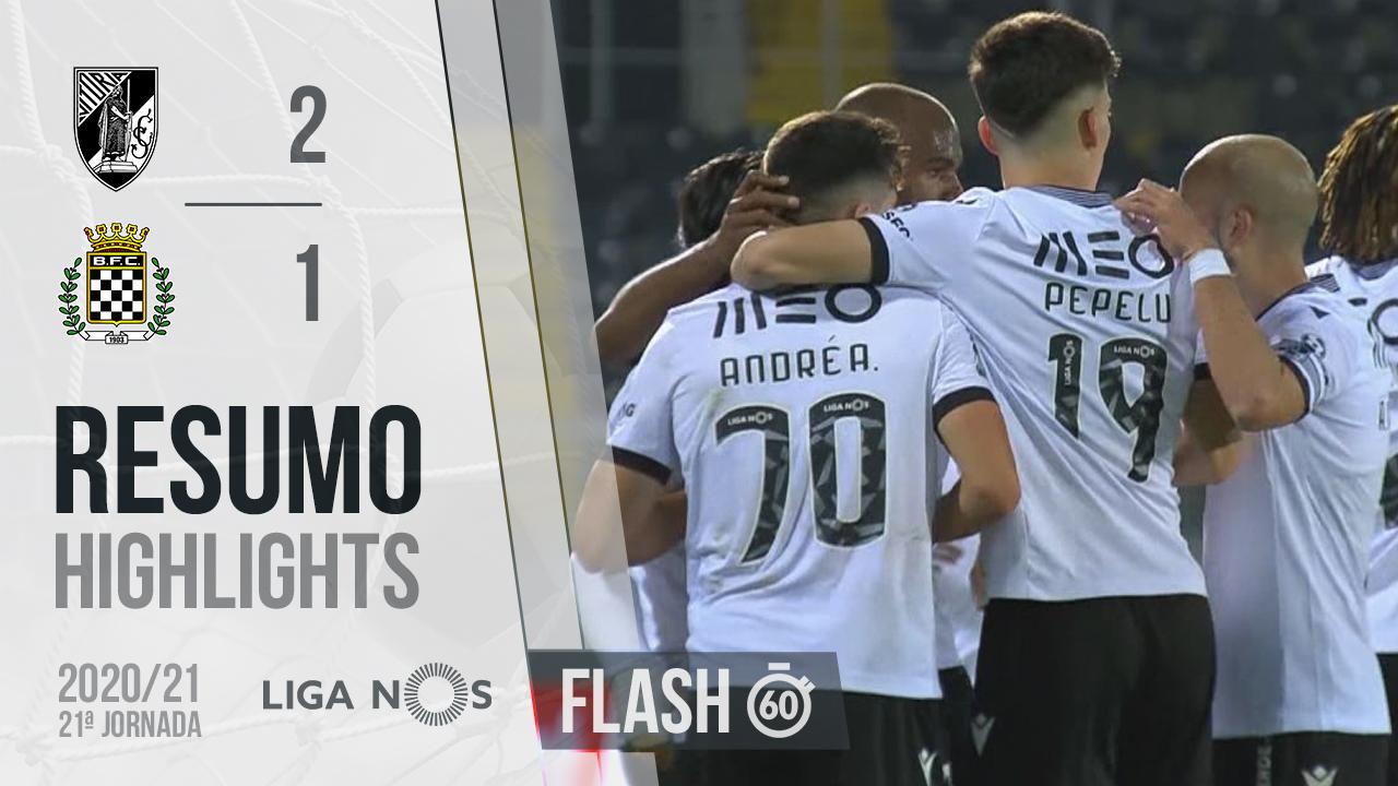 I Liga (21ªJ): Resumo Flash Vitória SC 2-1 Boavista FC