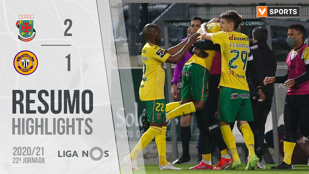 Liga NOS (22ªJ): Resumo FC P.Ferreira 2-1 CD Nacional
