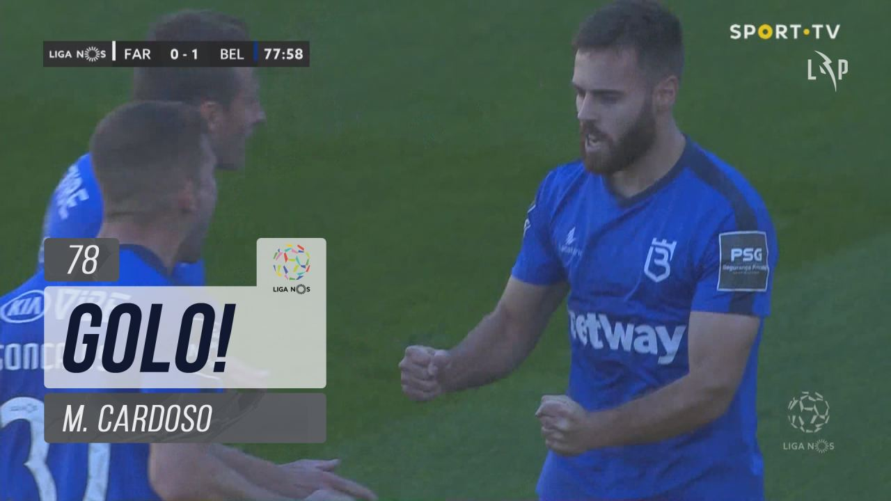 GOLO! Belenenses SAD, M. Cardoso aos 78', SC Farense 0-1 Belenenses SAD