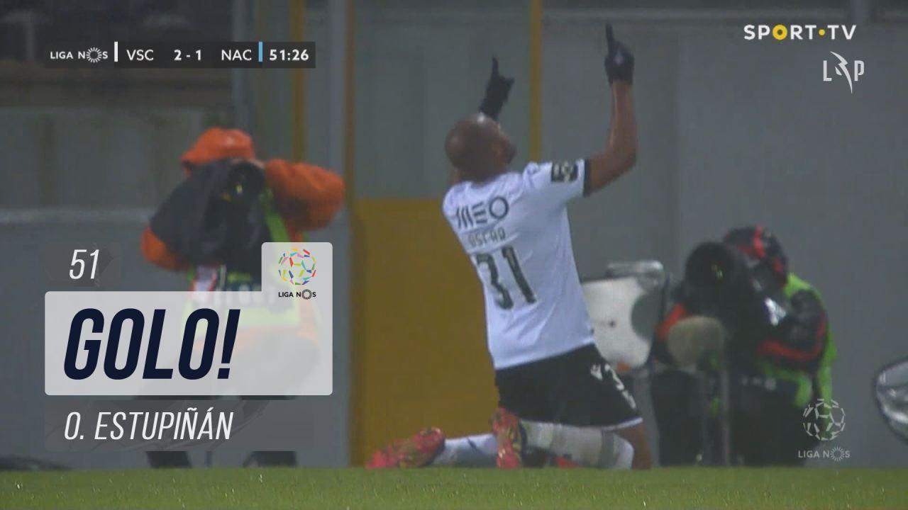 GOLO! Vitória SC, O. Estupiñán aos 51', Vitória SC 2-1 CD Nacional