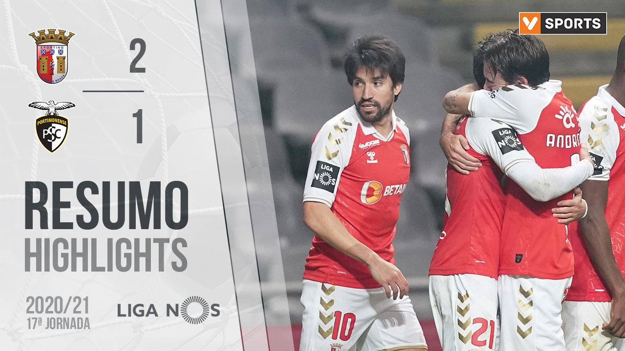 Liga NOS (17ªJ): Resumo SC Braga 2-1 Portimonense