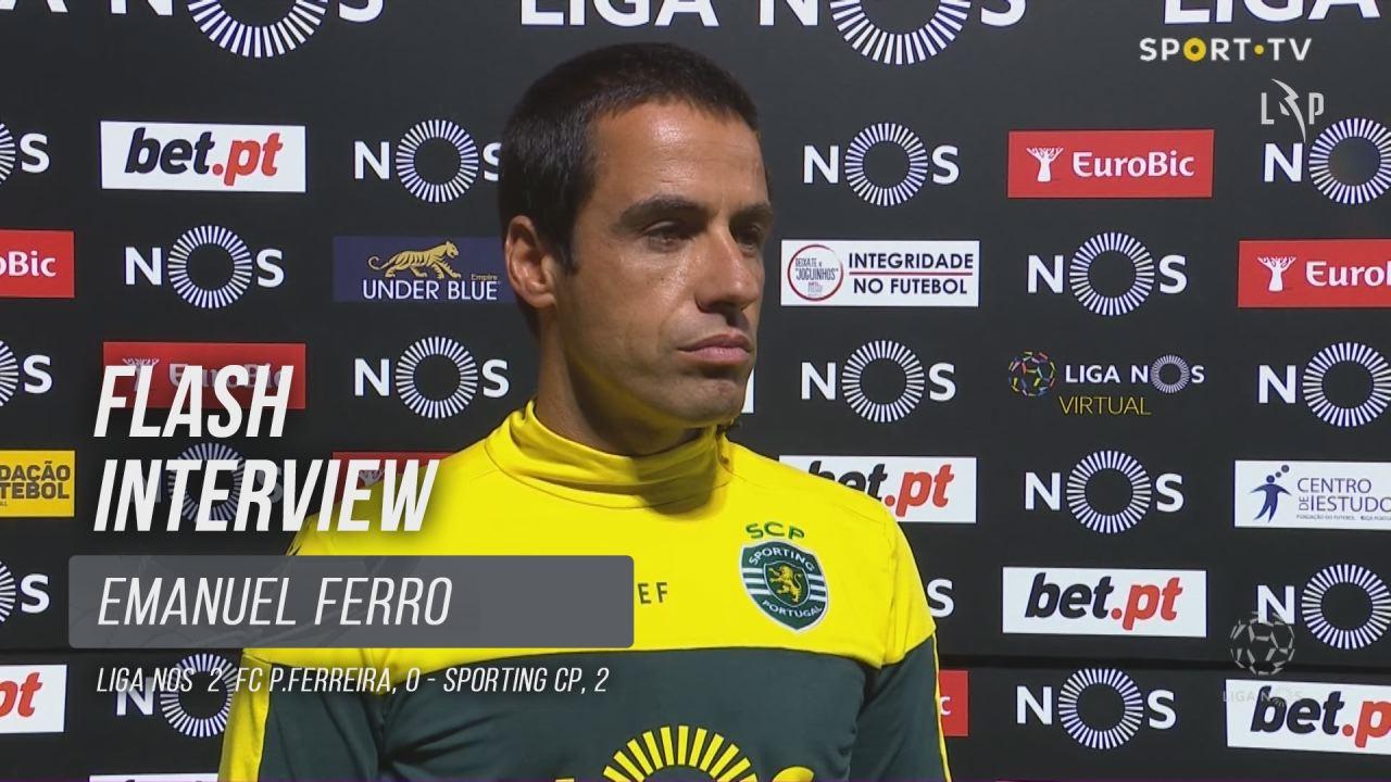 """Emanuel Ferro: """"A vitória era muito importante"""""""