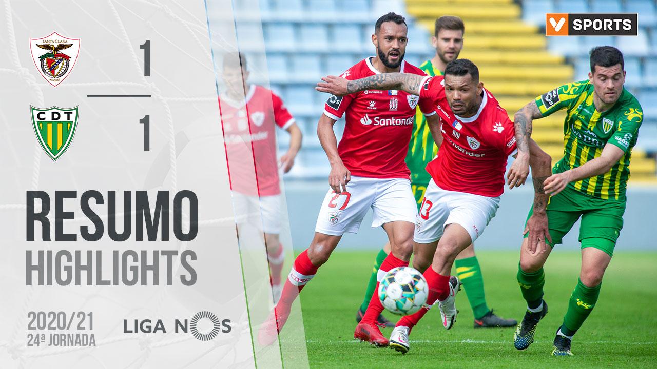 Liga NOS (24ªJ): Resumo Santa Clara 1-1 CD Tondela