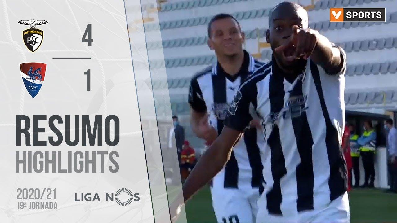 Liga NOS (19ªJ): Resumo Portimonense 4-1 Gil Vicente FC