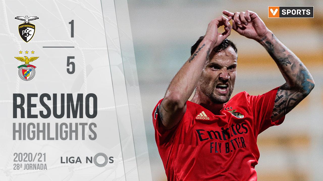 Liga NOS (28ªJ): Resumo Portimonense 1-5 SL Benfica