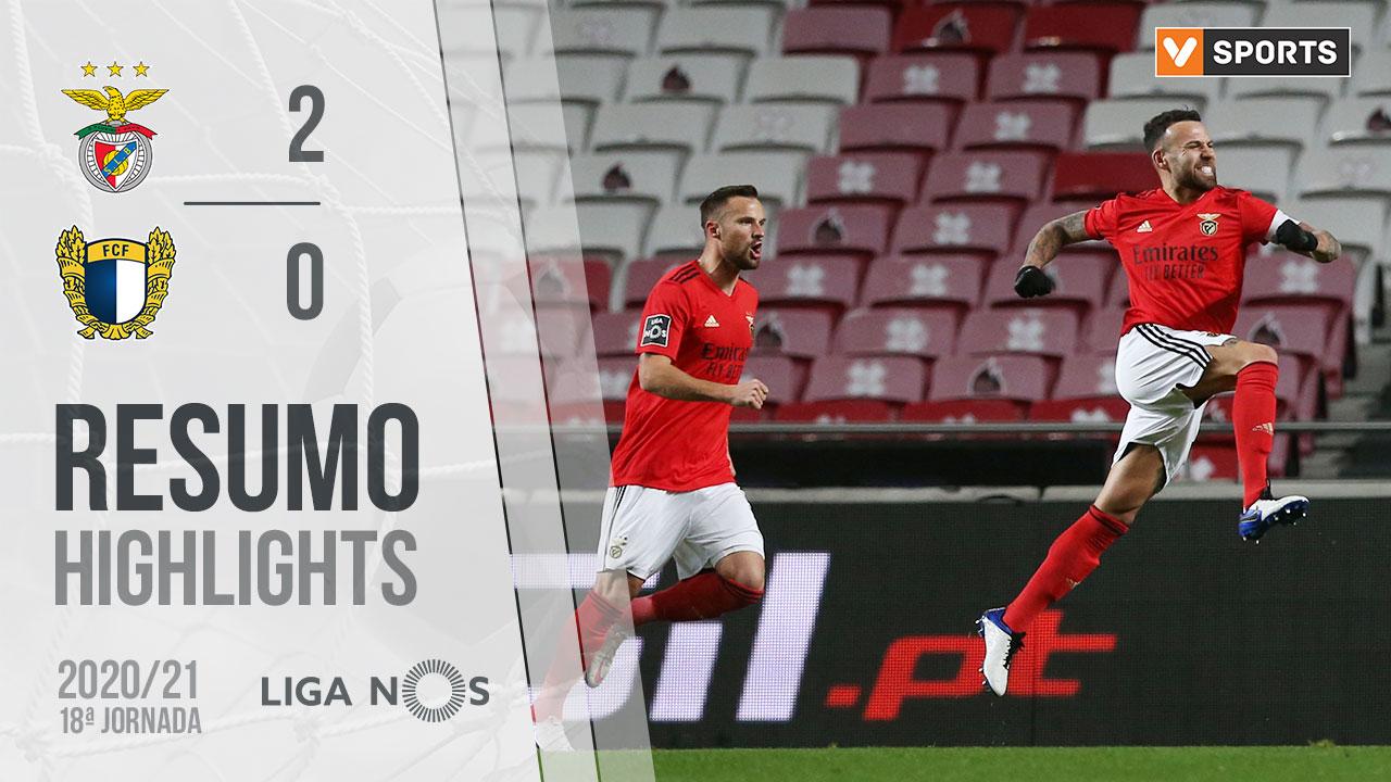 Liga NOS (18ªJ): Resumo SL Benfica 2-0 FC Famalicão