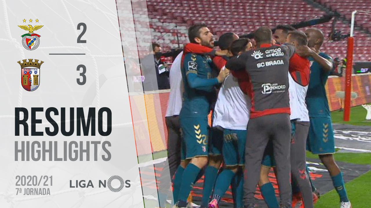 I Liga (7ªJ): Resumo SL Benfica 2-3 SC Braga