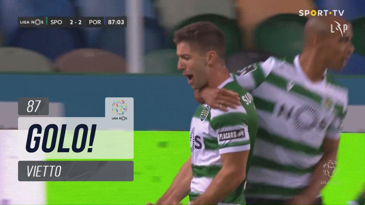 GOLO! Sporting CP, Vietto aos 87', Sporting CP 2-2 FC Porto