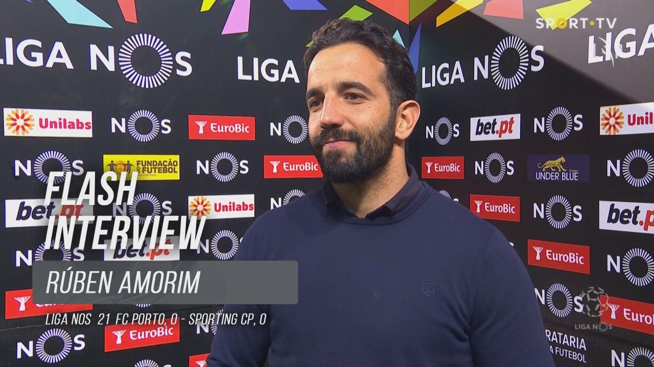 """Rúben Amorim: """"Parabéns aos meus jogadores porque deram tudo"""""""
