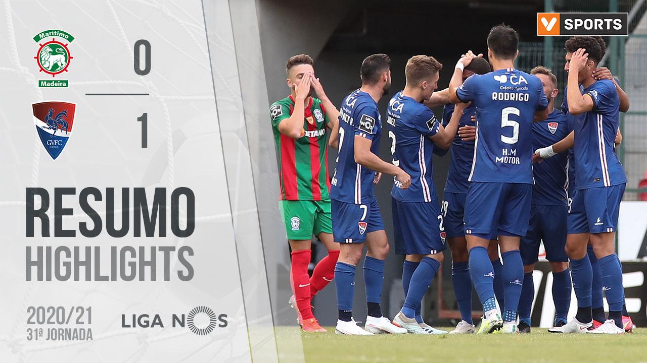 Liga NOS (31ªJ): Resumo Marítimo M. 0-1 Gil Vicente FC