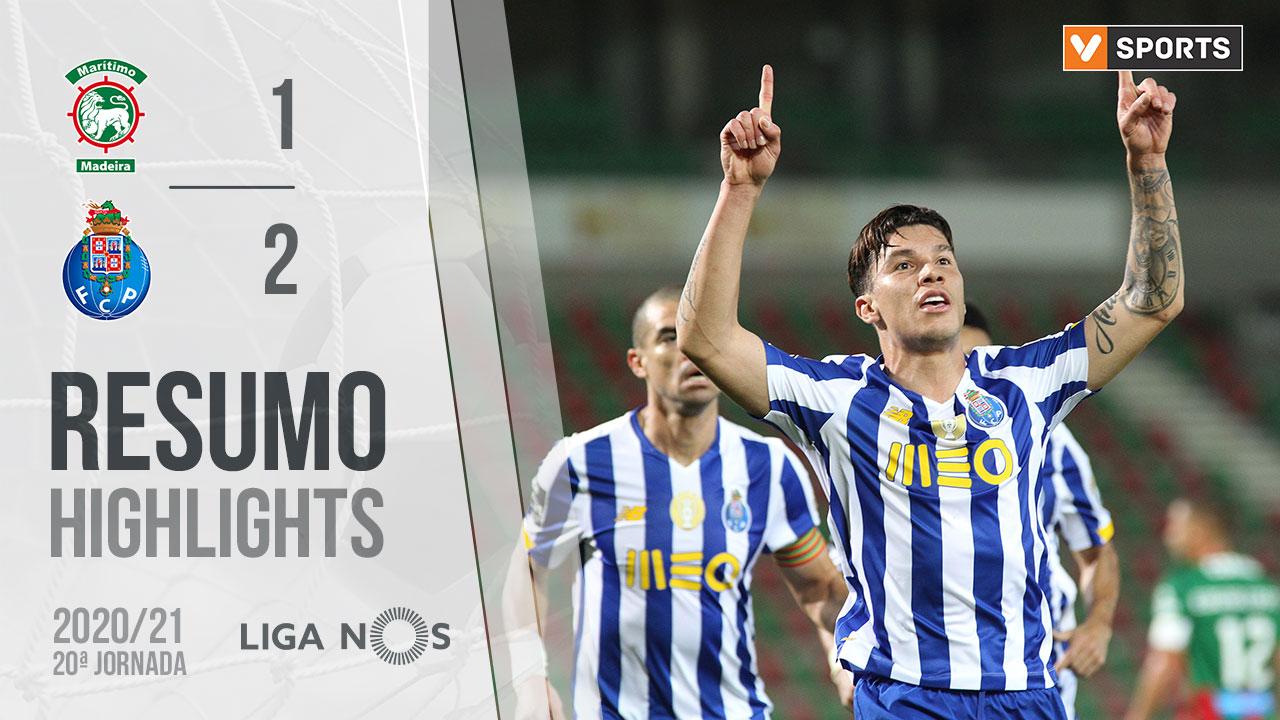 Liga NOS (20ªJ): Resumo Marítimo M. 1-2 FC Porto