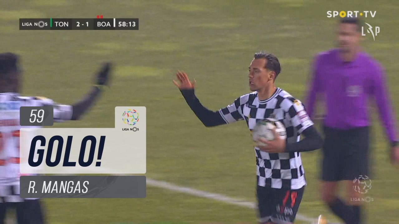 GOLO! Boavista FC, R. Mangas aos 59', CD Tondela 2-1 Boavista FC